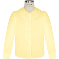 Yellow Long Sleeve Peter Pan Collar Blouse