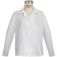 White Long Sleeve Sport Collar Blouse