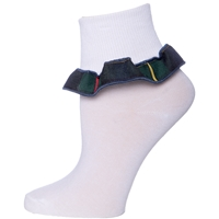 Belair Plaid Anklet Sock With Ruffle