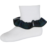Columbia Plaid Anklet Sock With Ruffle