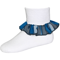 Grant Plaid Anklet Sock With Ruffle