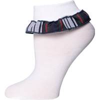 Lloyd Plaid Anklet Sock With Ruffle