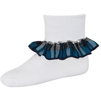 Rampart Plaid Anklet Sock With Ruffle