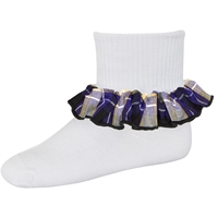 Fremont Plaid Anklet Sock With Ruffle