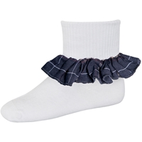 Burlingame Plaid Anklet Sock With Ruffle
