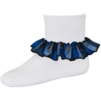 Hastings Plaid Anklet Sock With Ruffle