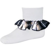 Langley Plaid Anklet Sock With Ruffle