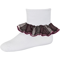 James Plaid Anklet Sock With Ruffle