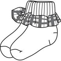 Hanover Plaid Anklet Sock With Ruffle