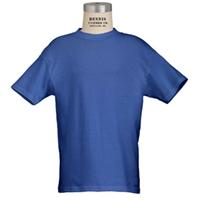 Royal 100% Cotton T-Shirt with School Logo