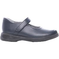 Navy Girls Dress Shoe Wide Width