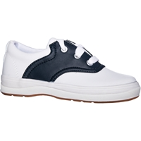 White/Navy Female Lightweight Saddle Shoe Wide Width