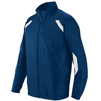 Navy Warm-Up Jacket with School logo