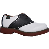 Black w/ White Stripes Saddle Shoe Wide Width