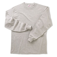 Oxford Grey Long Sleeve 100% Cotton T-Shirt with School Logo