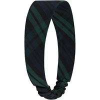 Blackwatch Plaid Elastic Back Headband