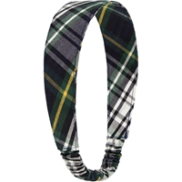 Carden Plaid Elastic Back Headband