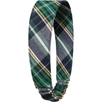 Christopher Plaid Elastic Back Headband