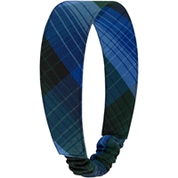 Douglas Plaid Elastic Back Headband