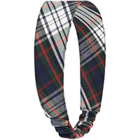 Lloyd Plaid Elastic Back Headband
