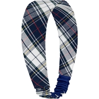 Marymount Plaid Elastic Back Headband