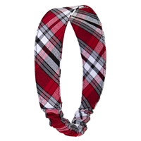 McDonald Plaid Elastic Back Headband