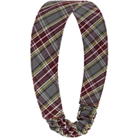 MM Plaid Elastic Back Headband