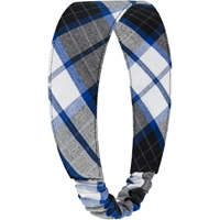 Adams Plaid Elastic Back Headband