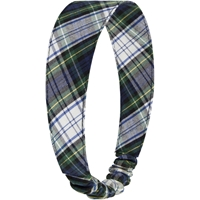 Belmont Plaid Elastic Back Headband