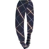 Burlingame Plaid Elastic Back Headband