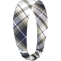 Langley Plaid Elastic Back Headband