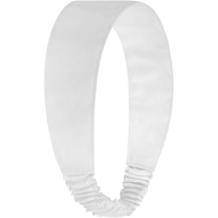 White Elastic Back Headband