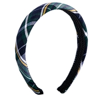 Christopher Plaid Padded Headband