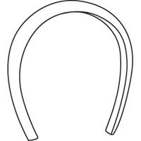 OO Plaid Padded Headband