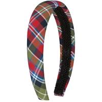 Primrose Plaid Padded Headband