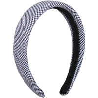 Navy & White Houndstooth Padded Headband