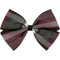 Bordeaux Plaid Hairbow