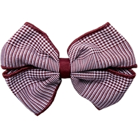 Maroon & White Shadow Plaid Hairbow