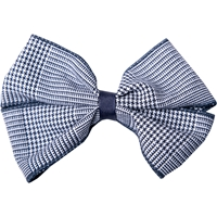 Navy & White Shadow Plaid Hairbow