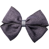 Heather Grey Gabardine Hairbow