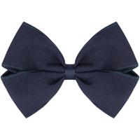 Navy Gabardine Hairbow