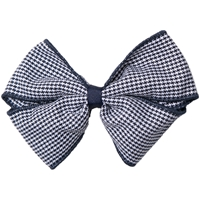 Navy & White Houndstooth Hairbow