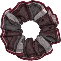 Bordeaux Plaid Hair Scrunchy