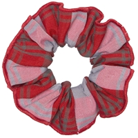 Victoria Plaid Hair Scrunchy