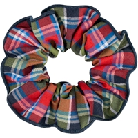 Primrose Plaid Hair Scrunchy
