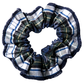 Belmont Plaid Hair Scrunchy