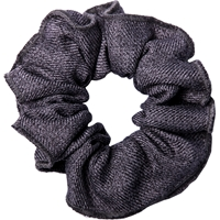 Heather Grey Gabardine Hair Scrunchy