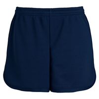 Navy Girls Performance Short with School Logo