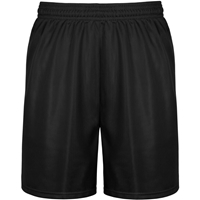 Black Micro Mesh Gym Short with School logo