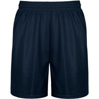 Navy Mini Mesh Athletic Shorts with School Logo